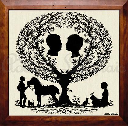 Portrait de Famille Silhouette