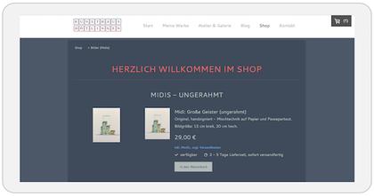 Online-Shop, Julia Neulinger-Kahl, Kunsthaus Dötlingen