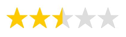 2,5 Sterne Bewertung für die Multinorm Augentropfen