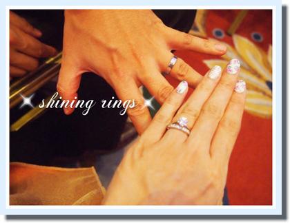 指輪選び物語完結編~7月7日 2人とも初めて一緒にリングをはめてお出かけしました^^