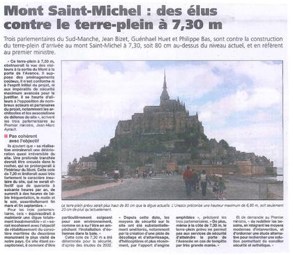 Presse de la Manche, 19.07.2012 - cliquez sur l'article pour l'agrandir
