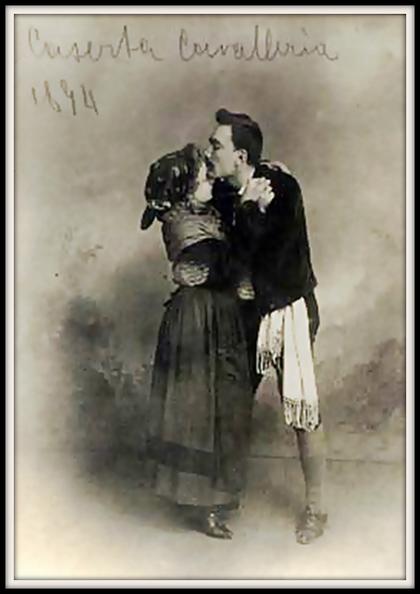 Pietro Mascagni CAVALLERIA RUSTICANA (Turiddu) con Giovanna Guidi (Mamma Lucia) Caserta aprile1895 e non 1894 come indica la foto