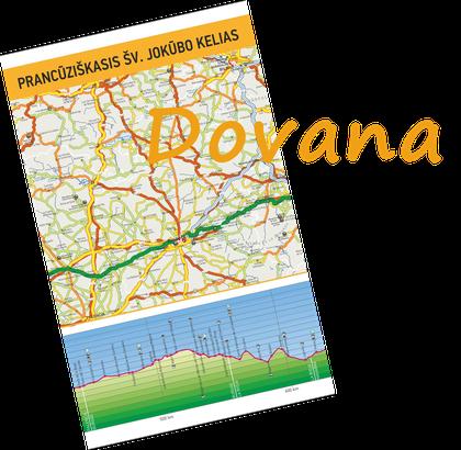 Šv. Jokūbo Prančūziškojo kelio žemėlapis