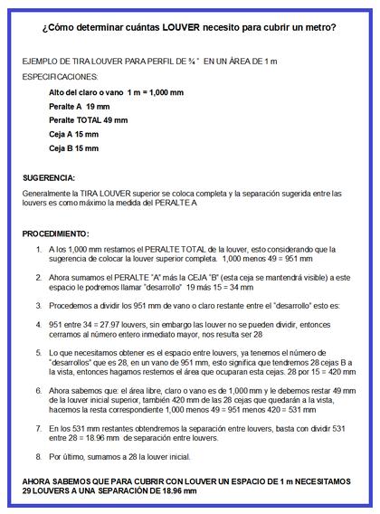 PUERTA LOUVER TIRA RECTA FORMA CORRECTA DE INSTALACIÓN