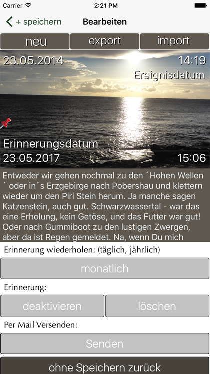 iPhone App FotoKlingl