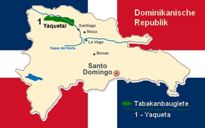Tabakanbaugebiete auf Dom.Rep.