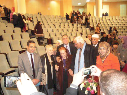 Ceremony in the auditorium of the University of Guelma for Bettina Heinen-Ayech on April 5th, 2015