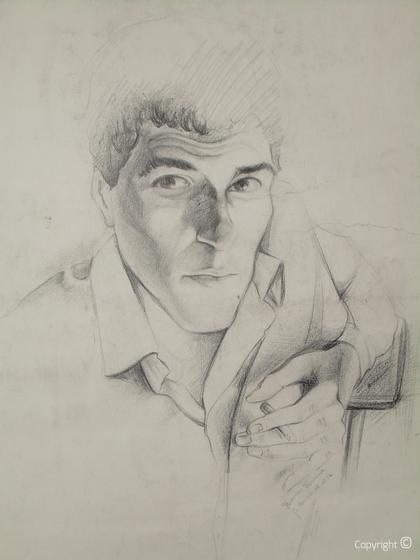 Autoportrait par Hocine Himeur, vers 1990