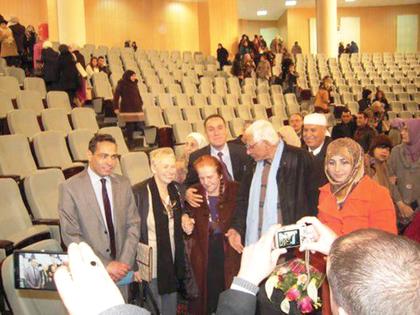 Festakt in der Aula der Universität Guelma für Bettina Heinen-Ayech am 05.04.2015