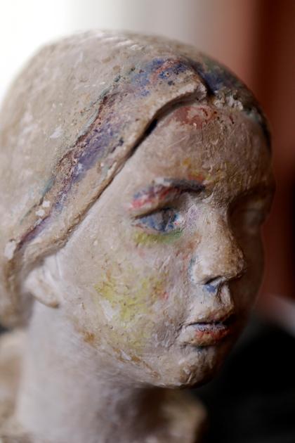 Lies Ketterer (1905-1976): Portraitkopf von Diana Millies als Kind, 1966