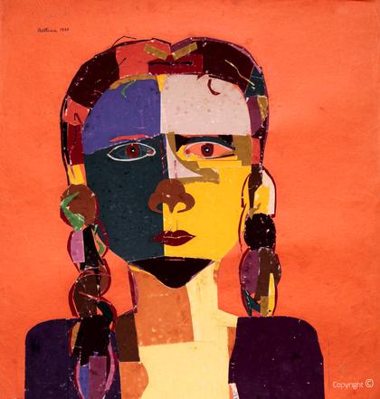 Bettina Heinen-Ayech (1937-2020): Selbstbildnis, 1951