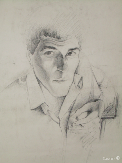 Self-portrait by Hocine Himeur, ca.1990