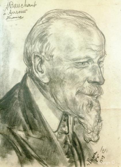 Erwin Bowien ( 1899-1972): Portraistudie des Malers André Bauchant, 1939