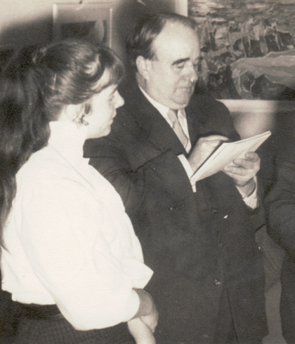 Erwin Bowien with his most important student, 1955