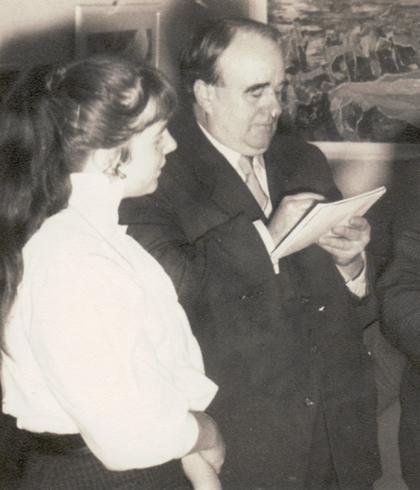 Erwin Bowien mit seiner wichtigsten Schülerin, 1955
