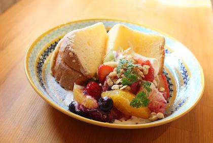 京都 カフェ ケーキ 二条 シフォン ぱんケーキ
