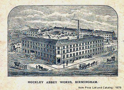 Image of Hockley Abbey Works from John Rabone & Sons catalogue 1878 on the WK Fine Tools Internet Magazine website. See Acknowledgements.