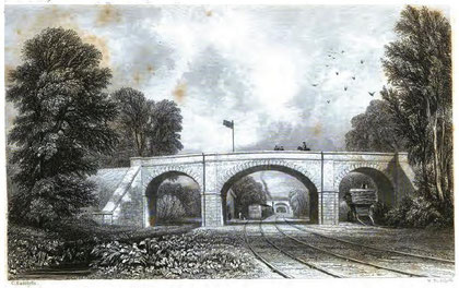 Newton Road Station on the Grand Junction Railway, Birmingham to Liverpool. From Thomas Roscoe's Book of the Grand Junction Railway 1839 - image in the public domain.
