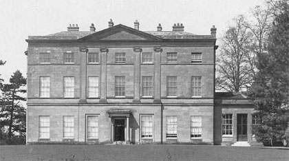 Elmdon Hall. Image from Matthew Beckett's website 'Lost Heritage - Lost Country Houses of England' used under the copyright statement on that website. See Acknowledgements.