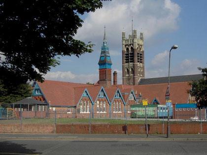 Ladypoool School viewed from Ladypool Road