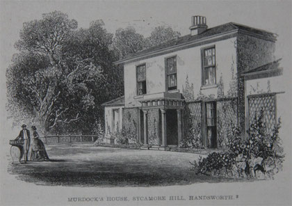 Sycamore Hill from Samuel Smiles 1865 'Lives of Boulton and Watt' a work now out-of-copyright.  Image downloaded from Grace's Guide website. See Acknowledgements.