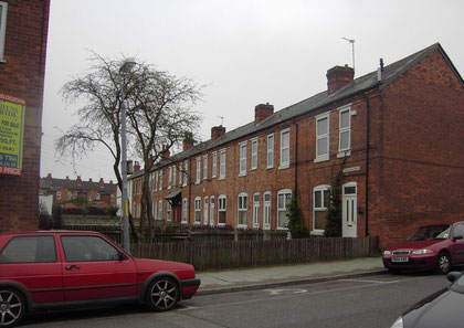 19th-century houses in Trafalgar Grove off Francis Road