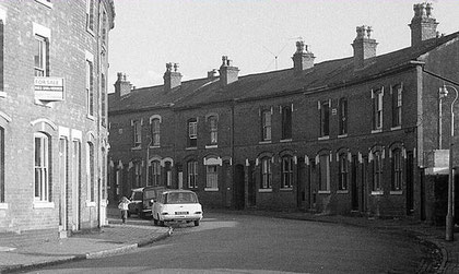 Wellington Street 1974 - a typical street in Victorian Winson Green. Image used with the kind permission of Matt Chambers from flickr. 'All Rights Reserved'. See Acknowledgements.