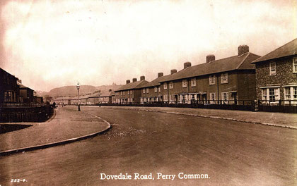 Dovedale Road in the 1930s - image from Voices of Kingstanding website