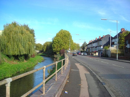The River Tame alongside Witton Road. Image by Antony Dixon on Geograph SP0891 reuse permitted under Creative Commons licence Attribution-ShareAlike 2.0 Generic (CC BY-SA 2.0)
