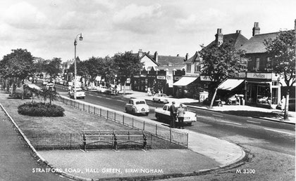 Hall Green Parade 1960. Image, now free of copyright, downloaded from the late Peter Gamble's now defunct Virtual Brum website. See Acknowledgements.