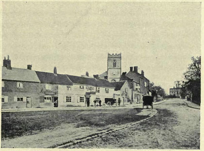 Moseley Village in 1885. Image from Helen Cadbury Alexander 1906 'Richard Cadbury of Birmingham', a work now in the public domain.