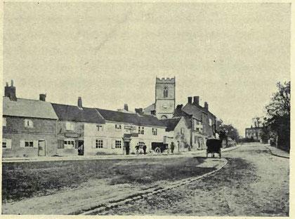 Moseley Village in 1885. Image from Helen Cadbury Alexander 1906 'Richard Cadbury of Birmingham', a work now in the public domain.