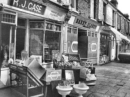 Shops on the Coventry Road near Birmingham City Football Club 1970s. Reproduced with the kind permission of the late Keith Berry from his online collection of photographs - see Acknowledgements to link to his site.