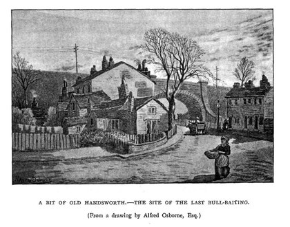 Image from R K Dent 1894 'The Making of Birmingham', a work now in the public domain. This may be Bacchus Road or Park Road.