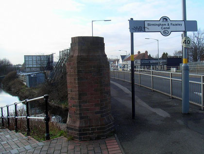 Butlers Bridge. The shops in the background stand on the site of Butlers Bridge hamlet.