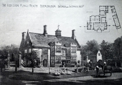 Bateman's drawing for the Red Lion from the Birmingham Conservation Trust website accompanying text informed by Joe Turner's article