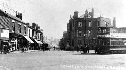 Acocks Green tram terminus. Image 'All Rights Reserved' courtesy of Carl Chinn from his BirminghamLives website