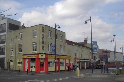Listed buildings along Bartholomew Row, since demolished
