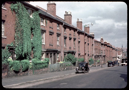 Houses on Great Colmore Street built  after 1825, photographed in 1953 by Phyllis Nicklin. See Acknowledgements, Keith Berry.