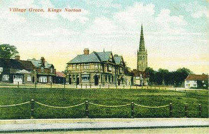 Kings Norton Green 1909. Image reproduced from Postcards of the Past with kind permission from Dave Gregory. See Acknowledgements to link to his website of old postcards.