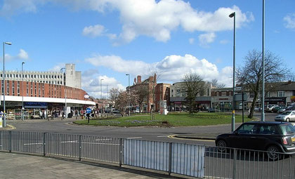 This roundabout on the Warwick Road is now thought of as the centre of Acocks Green.