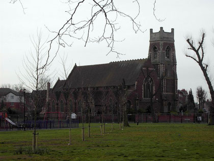 The old Christ Church, now demolished