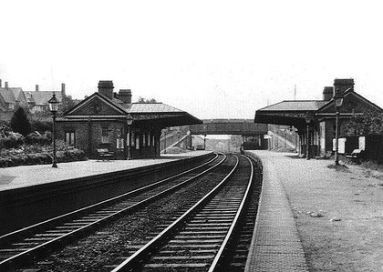 Hazelwell Station in 1929 - photo from the Warwickshire Railways website