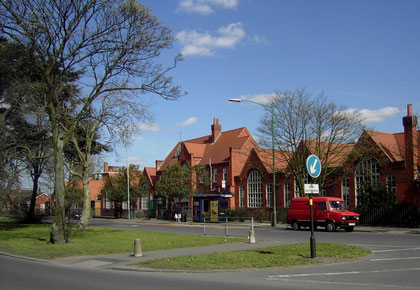 Yardley School - the site of Yew Tree House is to the left of the school.