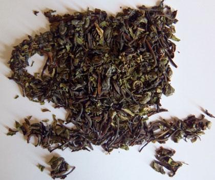 thé vert à la menthe poivrée