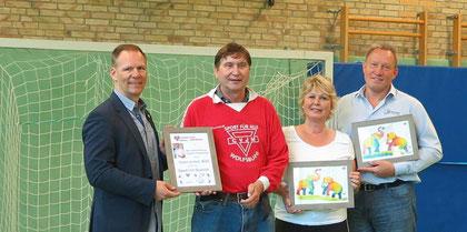 Frank-Michael Mücke (von links), Manfred Wille, Silvia Mohnke und Reiner Sonntag