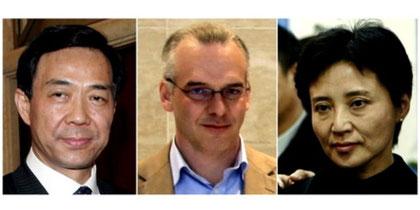 Hovedaktørerne i thrilleren om magt og penge: Bo Xilai, den myrdede britiske statsborger Neil Heywood og den dømte Gu Kailai