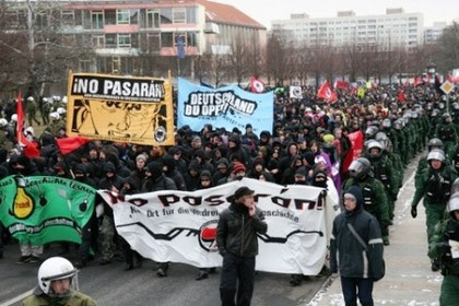Den venstreradikale antifascistiske alliance NO PASARAN