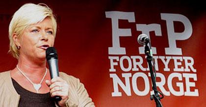 Fremskrittspartiets forkvinde Siv Jensen