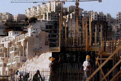 Israelske boligbyggeri på palæstinensisk territorium